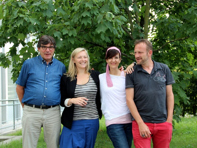 Die vier Schweizer (von links) Flurin Caviezel, Susanne Kunz, Sandy Altermatt und Thierry Romanens.