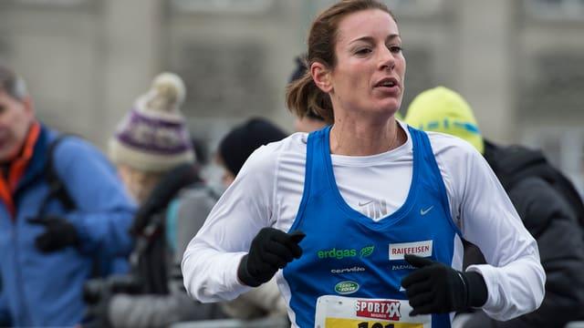 Nicola Spirig am Zürcher Silvesterlauf im Dezember 2013