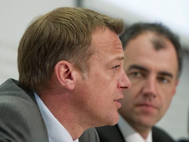 BDP-Präsident Landolt und CVP-Präsident Darbellay