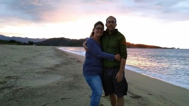 Mario ed Amanda Cavelti a Corsica.