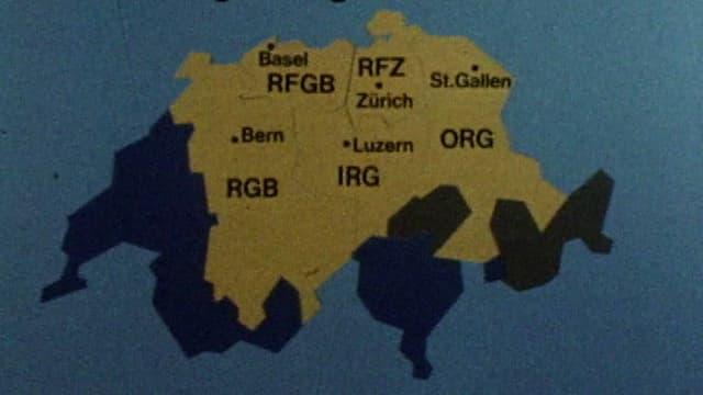 Übersichtskarte Regionaljournale