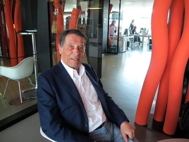 Udo Jürgens im Studio von Radio SRF 1.