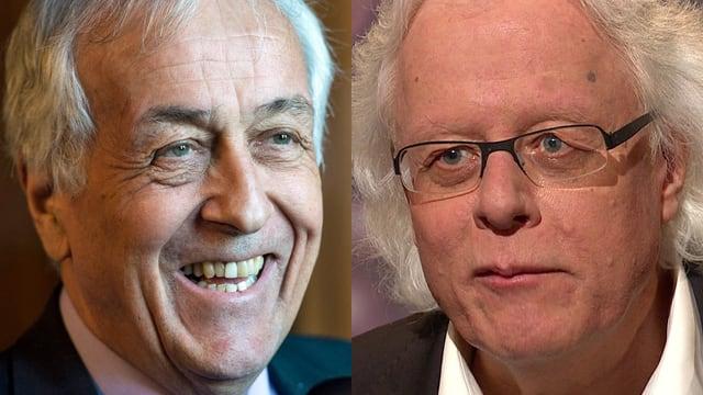 CVP-Politiker René Imoberdorf und der ehemalige SP-Präsident Peter Bodenmann im Combi-Bild. (key/srf)