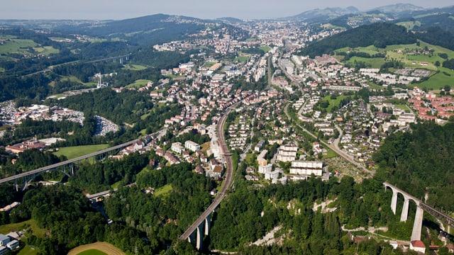 Luftbild der Stadt St.Gallen