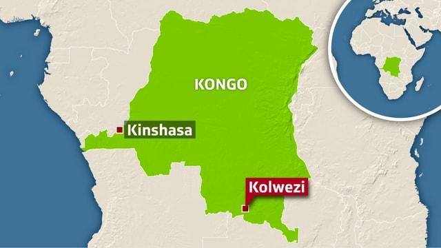 Karte von Kongo.