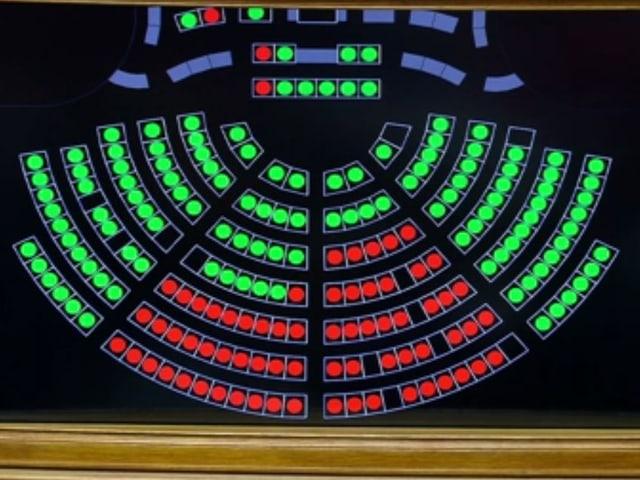 Abstimmungstafel im Nationalrat