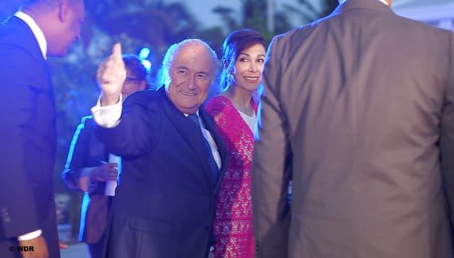 Fifa-Präsident Sepp Blatter siegessicher im Wahlkampf in der Karibik.