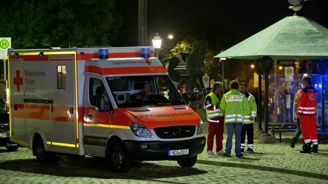 In'ambulanza sin ina via ad Ansbach