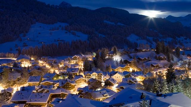 Blick auf Gstaad.