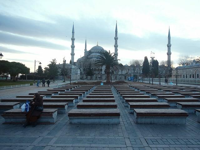 Der Platz nach dem Anschlag
