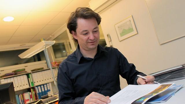 André Gisler, il directur da turissem da Flem Laax Falera.