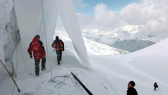 Gletscherabdeckung am Gemsstock.