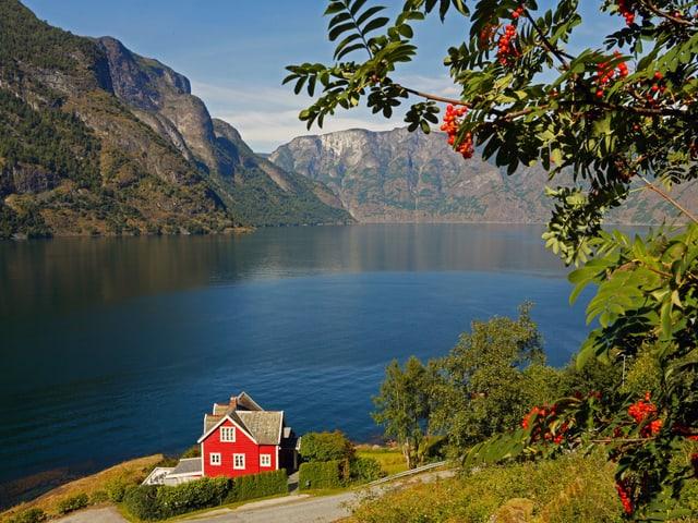 Aurlandsfjord im Süden Norwegens
