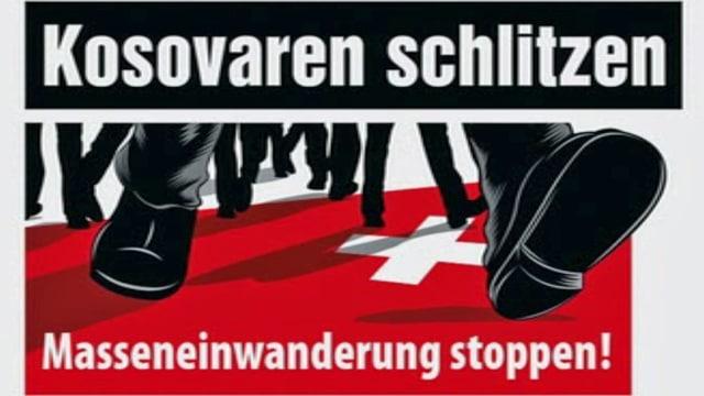 Plakat zur Masseneinwanderung