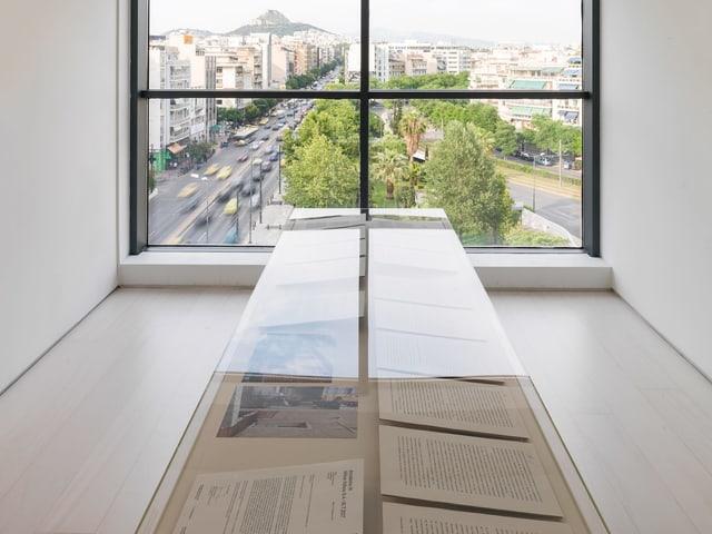 Der Blick aus einem Haus in Athen
