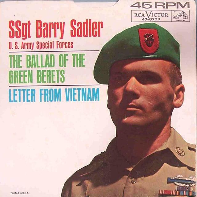 Vietnamveteran Barry Sadler schilderte seine Kriegserfahrung in seiner Musik.