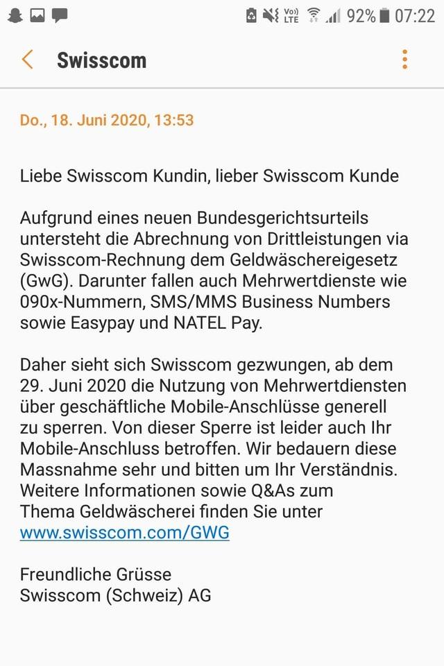 Swisscom-SMS