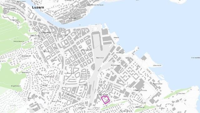 Das Areal Industriestrasse liegt im Süden der Stadt Luzern.