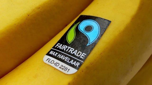 Max-Havelaar-Sticker auf einer Banane