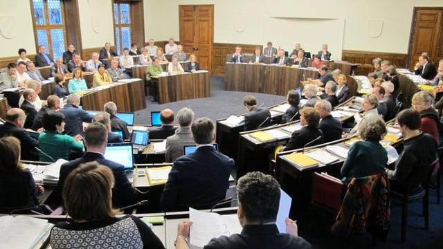 Blick in die Session des Solothurner Kantonsparlamentes vom 7. Mai 2014.