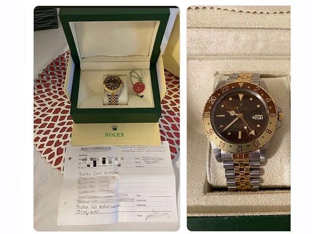 Bilder einer Rolex-Uhr
