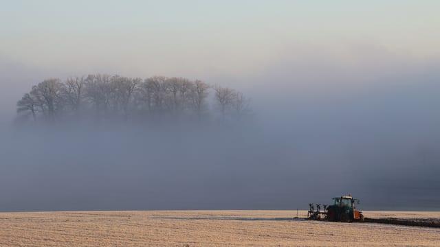 Auflösende Nebelschicht bei Ettingen (BL).