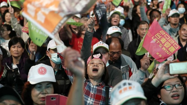 Wahlveranstaltung in Taiwan