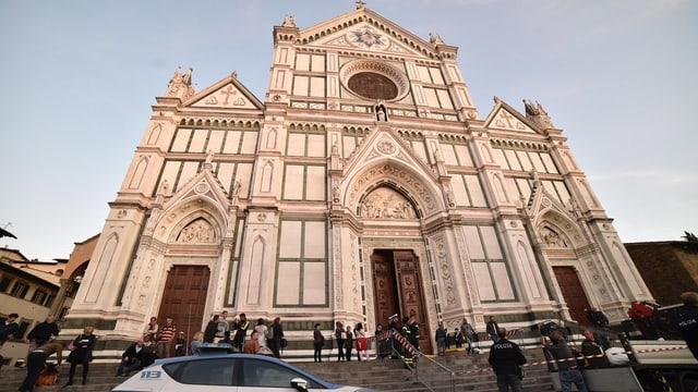 Die Fassade der Basilika Santa Croce.