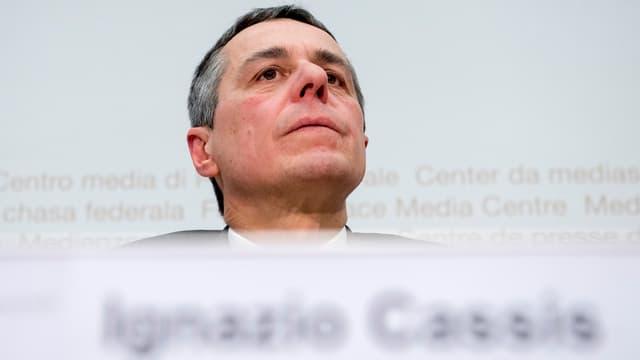 Aussenminister Cassis.