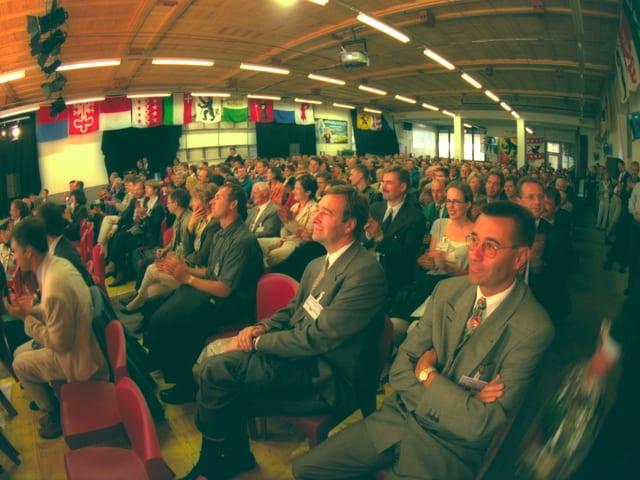 Publikum, sitzend