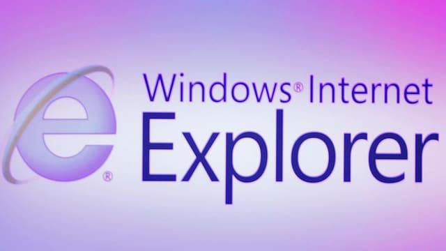 Schriftzug «Windows Internet Explorer» mit dem Logo des Explorer