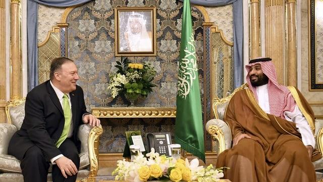 Mike Pompeo zu Besuch bei Mohammed bin Salman