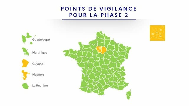Karte Frankreichs, alles grün ausser erwähnte Region(en)