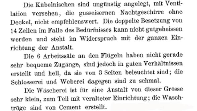 Text über der Strafanstalt Lenzburg.