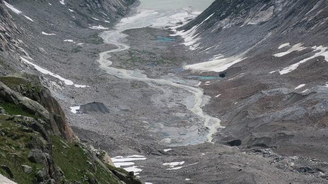 Überreste eines Gletschers