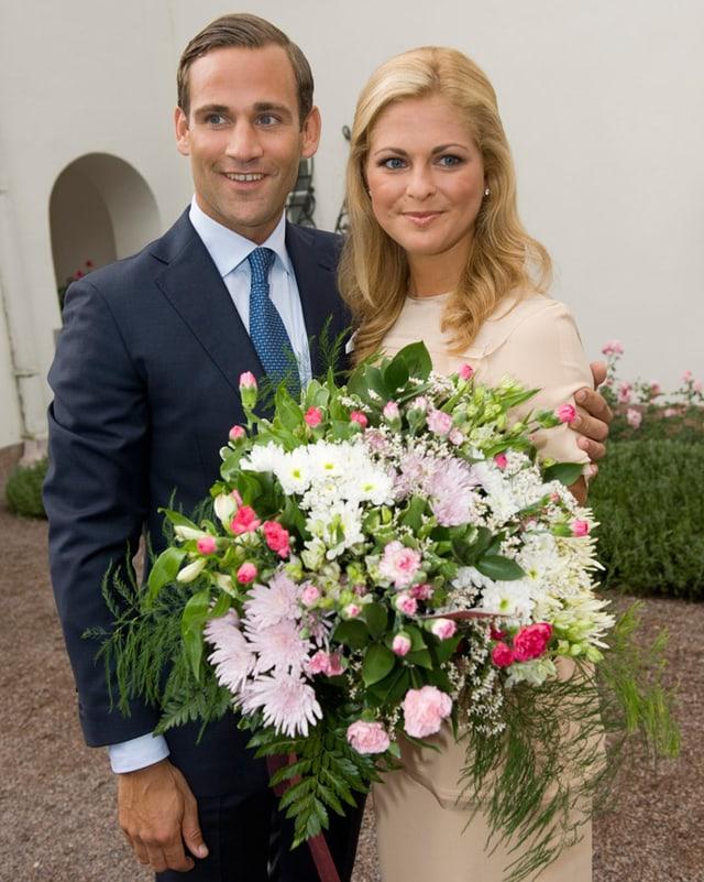 Prinzessin Madeleine von Schweden und Jonas Bergström
