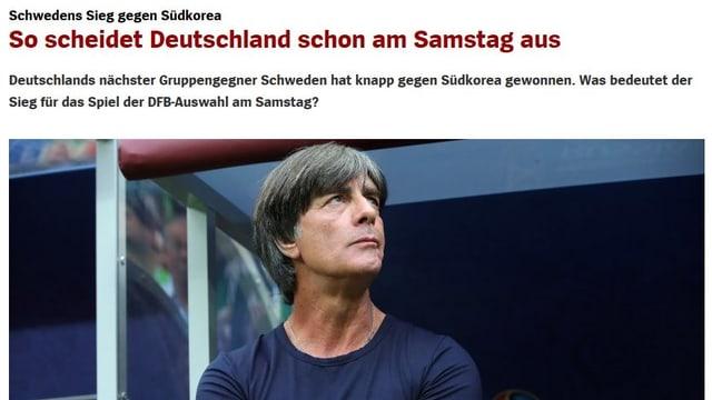 Eine Schlagzeile von spiegel.de