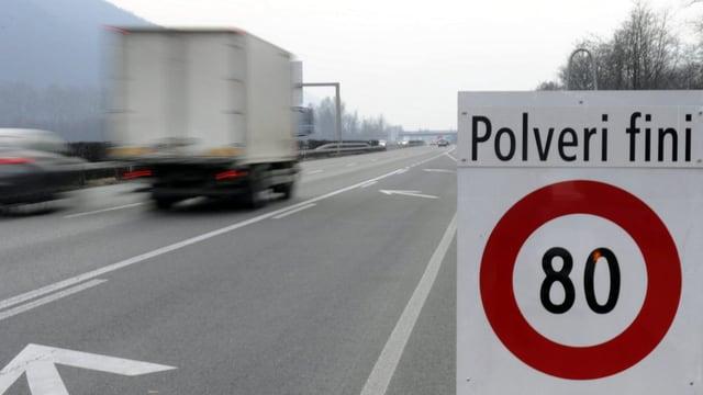 Il tempo sin parts da l'autostrada A2 è limità sin 80.