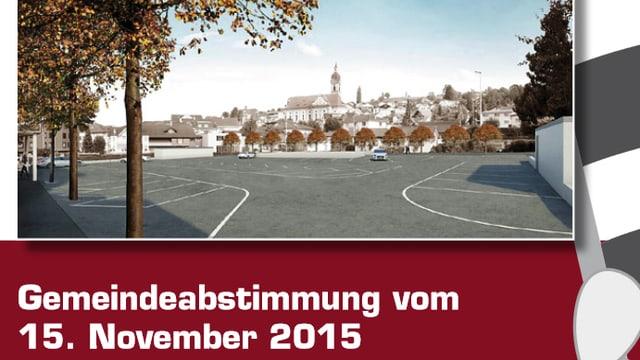 Abstimmungsvorlage und Blick auf Ruswil