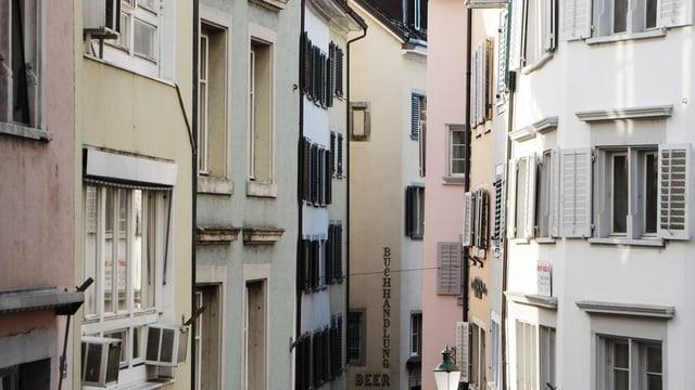 Häuser in der Zürcher Innenstadt