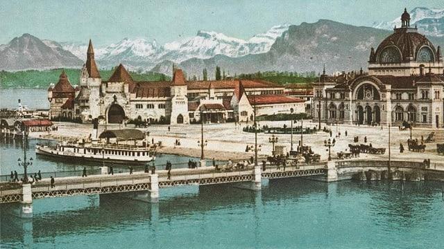 Festhütte des Eidgenössischen um 1901