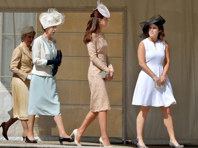 Prinzessin Anne, Prinzessin Eugenie und Herzogin Catherine