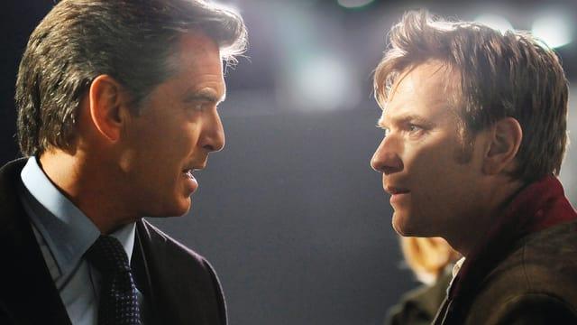 Pierce Brosnan als Adam Lang, Ewan McGregor als «der Ghost».
