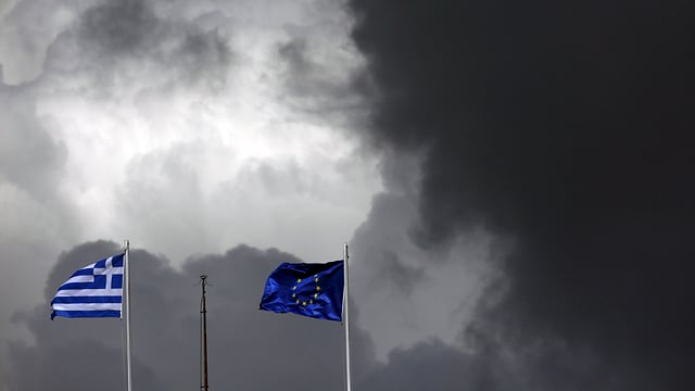 Bandieras Grezia ed UE