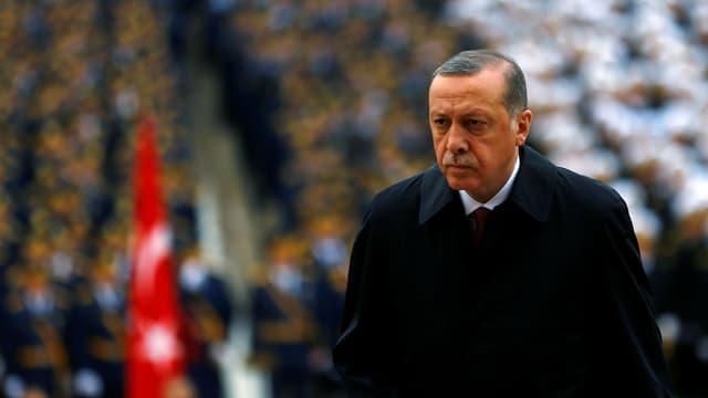 Erdogan an einer Zeremonie des türkischen Nationalfeiertags.