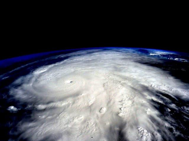 «Patricia», fotografiert vom Astronauten Scott Kelly aus der Raumstation ISS. Er schreibt auf Twitter: «Der Hurrikan ist riesig. Passt auf!» (keystone)