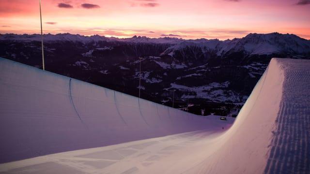 Das ist die Snowboard-Halfpipe