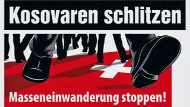 SVP-Inserat «Kosovaren schlitzen Schweizer auf» vom 2011