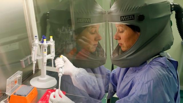 Ein Labor der Sicherheitsstufe 3.