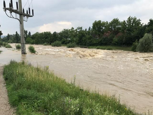 Birs mit Hochwasser